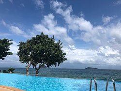 You can see bamboo island from the pool
