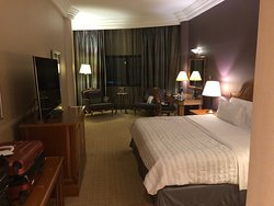 A view of the executive room facing the lounge area.
