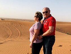 Evening red dunes desert safari dubai package.