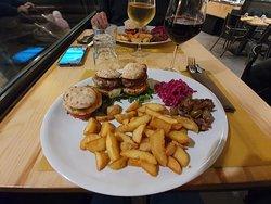 Tre mini hamburger