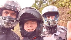 Myself, Thai & Sean doing the 7 day North East tour, up unto the border with China and back to Hanoi :o)