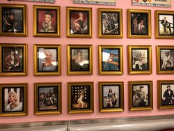 Looking down memory lane in the secret back room in Jackson Hole burger Astoria queens. You can fine celebrity photos like Elvis Presley, Marilyn Monroe, James dean and more come have a look for your self.