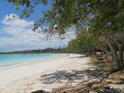 Vue de la partie Ouest de la plage de Kanumera Bay