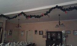 der essens raum weihnachtlich dekoriert