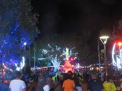 Autre vue des illuminations de fin d'année