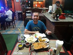 A lovely customer from Germany had three times dinner during his stay. He loves Highway Curry food