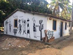 Mural realizado pela artista plástica Claudia Nen de Sergipe.