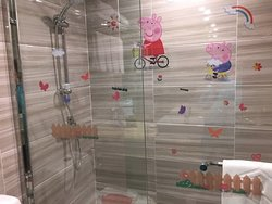 Peppa Pig joins you in the shower