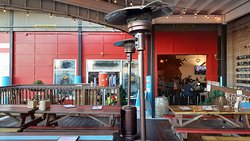 Platypus Brewing: The patio area