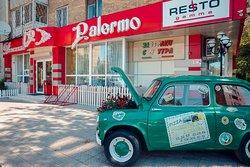 Фасад семейного ресторана Pallermo на Алиханова.  Уют солнечной Италии в Вашем доме!