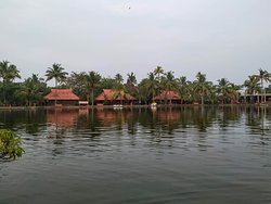 View of Cottages from paddle boat