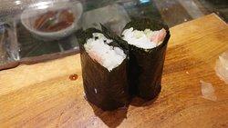 ¥1500のランチセット(9月)12月は小さい巻きずしが6個だった。