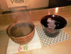 drink shochu with hot water or ice !!