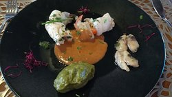 Starter 2: Filete de Rodaballo y Lenguado y con salsas exquisitas - Christmas lunch