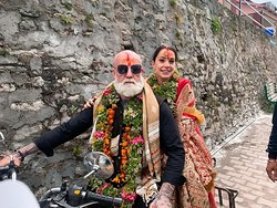 Paul Martino & Kiara Lauren from #Australia got married in Badrinath. They specially came to India to get married in #Badrinath, #Uttrakhand. They went there on a #RoyalEnfield #500cc #BulletStandard and decided that they will take this #bike from us to Australia. They bought the bike and we exported it for them to Australia. They loved the bike. We wish them all the best for their happy married life forever. Wishes and blessings from Tony Bike Centre.