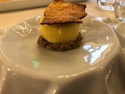 Crema di ceci con polenta taragna