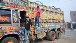 All trucks are so intricately decorated!