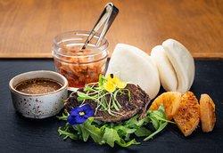 Braised Korean Short Rib served with bao buns