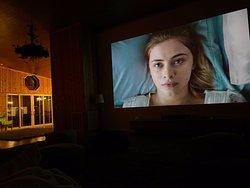 amazing wall sized screen to watch movies, netflix, etc