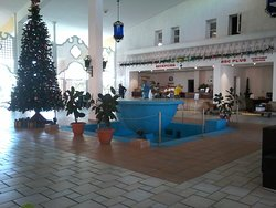 Lobby bar and reception area