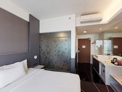 Reasonably spacious room. Always clean and well-kept.