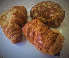 Butter, Almond & Chocolate Croissants