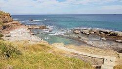 Wollongong City Beach northern rock pools