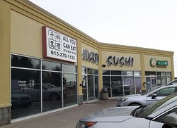 A further frontal view of Hockey Sushi Restaurant with plenty of parking!