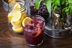Bourbon Blueberry Smash