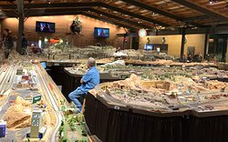 Entire building of model trains