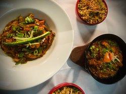 Chicken tikka jalfrezi / lamb balti / keema rice / mushroom rice
