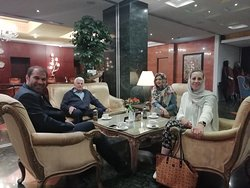 Meeting Mexican travelers of us in Shiraz hotel