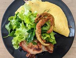 A barramundi omelette - never seen one before