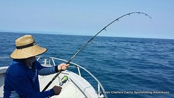 Saturday 14th December 2019 Russell fishing on the Great Barrier Reef from Cairns