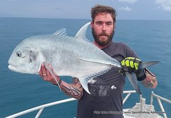 Thursday 26th December 2019 GT Popper fishing on the Great Barrier Reef from Cairns