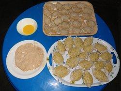 Seafood casquinhas de carrangueijo e chamussas de carrangueijo delicioso melhor como um prato de entrada.