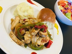 Chicken Stir Fry Dinner - Served with 2 sides and Dinner Roll