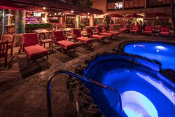 The blue pools and the red lava cushions are brought into harmony with the warm glow of our ambient lights