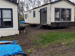 These are the cabins for rent...full of mold with holes in the floor