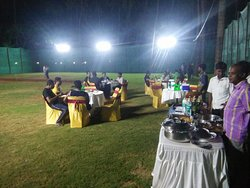 Buffet Served at Banquet Lawn