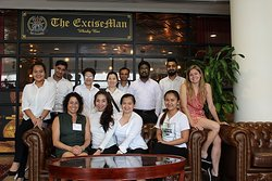 Our F&B student helpers for The World Spirits Competition Singapore 2019 @ The ExciseMan Whisky Bar