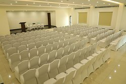 Banquet Hall 200 Seating Capacity along with high profile suitable for meetings get togethers, family functions etc..