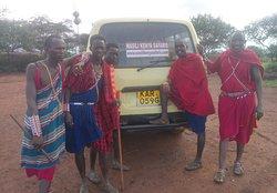 Amboseli national park at the Maasai village