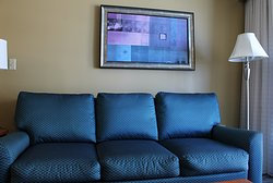1 bedroom sleeper sofa/artwork