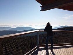 Breathtaking view at Pot med krošnjami, at Rogla.