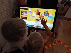 Deciding which toppings to go with at the Create Your Own Chocolate Bar adventure