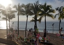 A view of the Malecon before the parade.