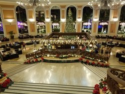 Main Hall decorated for Christmas