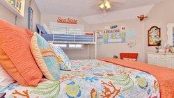 2nd Bedroom sleeps 5. Ebb Tide 405 sleeps 7 in total.
