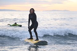 Niki and Harry's Surfing Lesson in Laguna Beach with Goff Tours 12-30-19